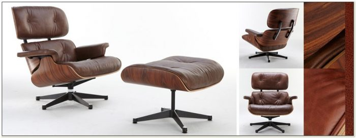 Replica Eames Lounge Chair Brown Leather