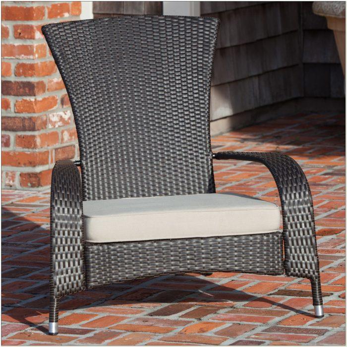 Resin Wicker Adirondack Chairs