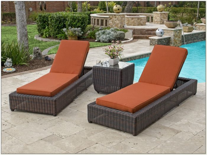 Resin Wicker Chaise Lounge Chairs Outdoor