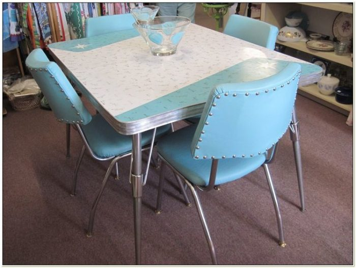 Retro Formica Dining Table And Chairs