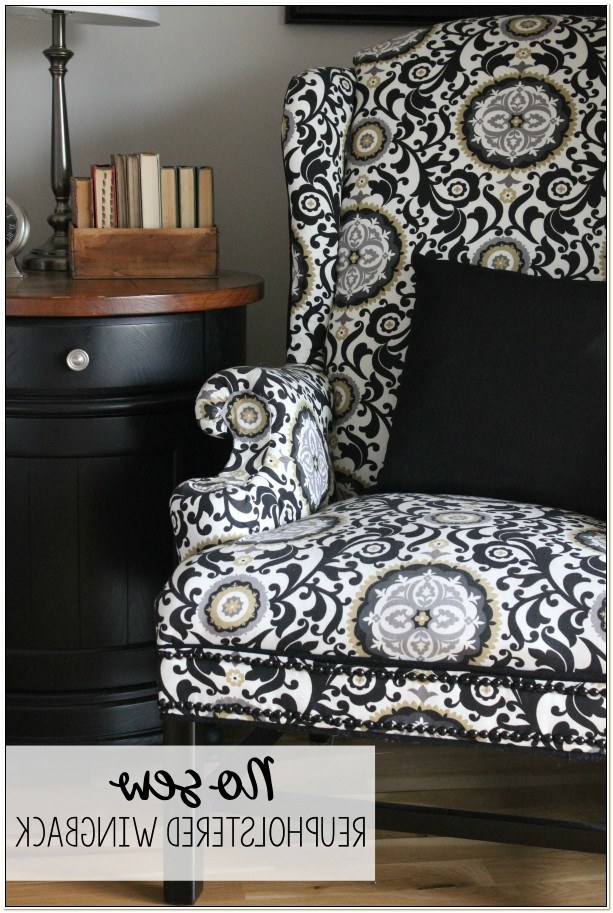 Reupholster A Wingback Chair No Sew