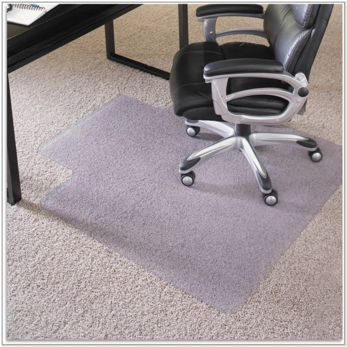 Round Chair Mat With Lip