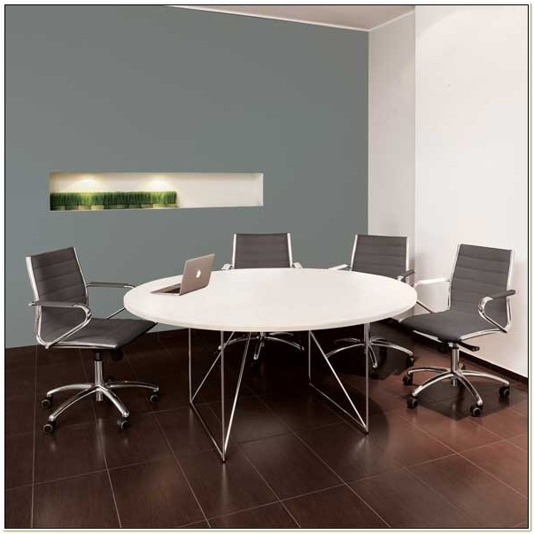 Round Conference Room Table And Chairs