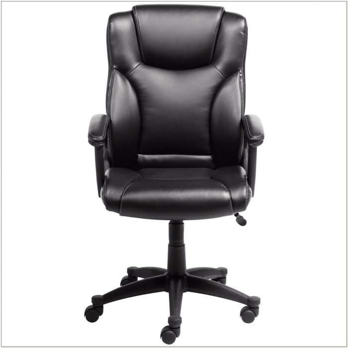 Serta 43672 Bonded Leather Executive Chair Black