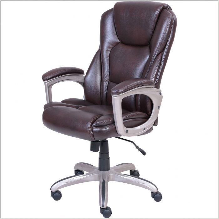 Serta Big Tall Executive Office Chair Brown