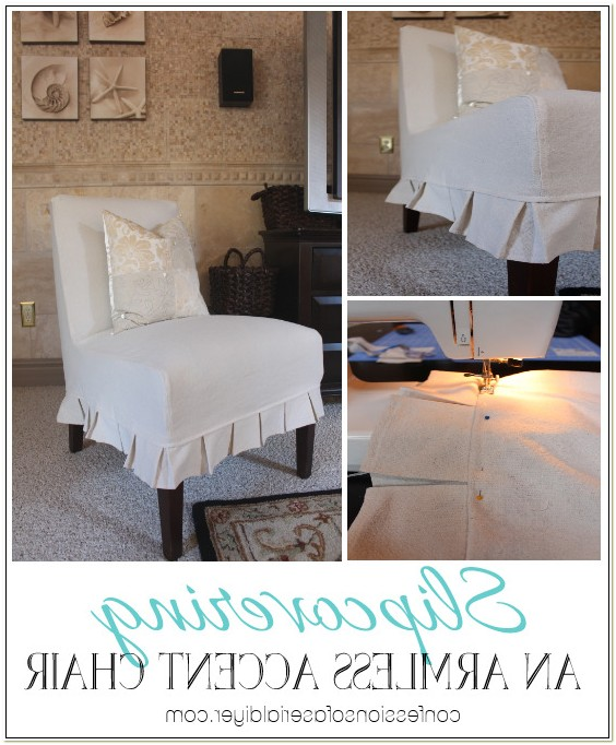 Slipcover For Armless Accent Chair