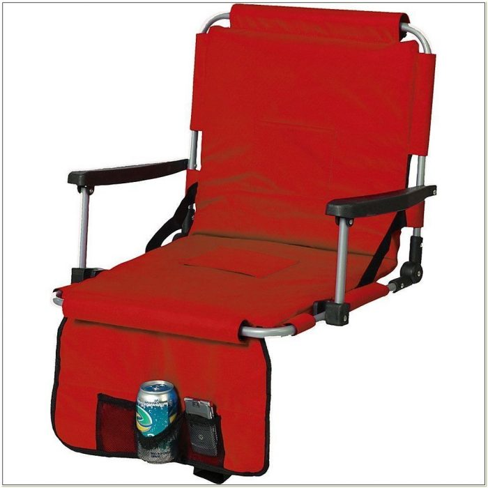 Stadium Chair With Armrests And Cup Holder
