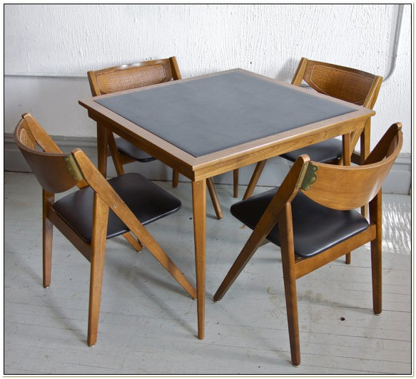 Stakmore Wooden Folding Table And Chairs