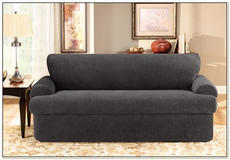 Stretch Pique Three Piece Chair Slipcover