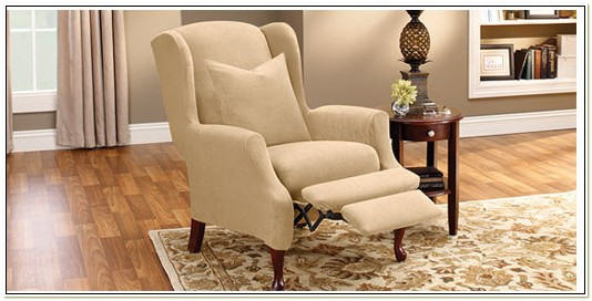 Sure Fit Wing Chair Recliner Slipcover
