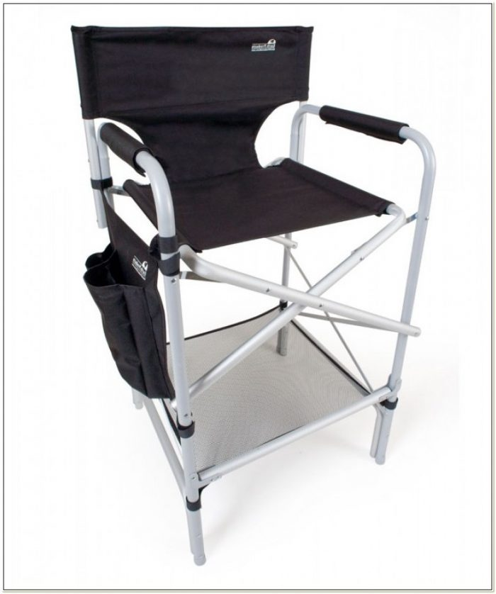 Tall Aluminum Folding Directors Chair