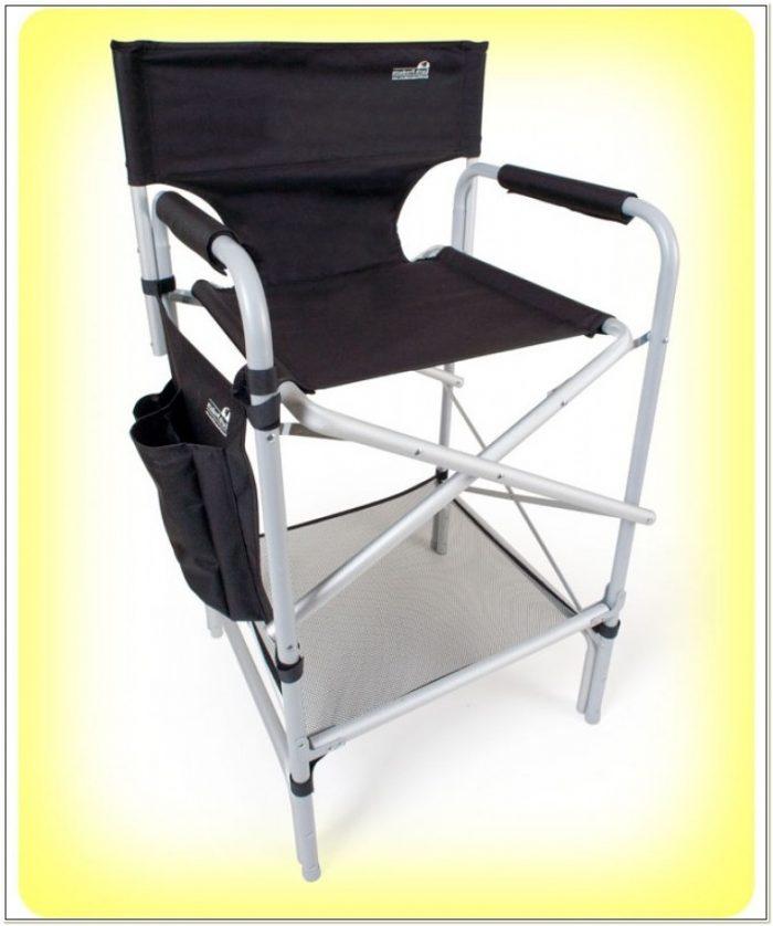 Tall Aluminum Frame Director Chair