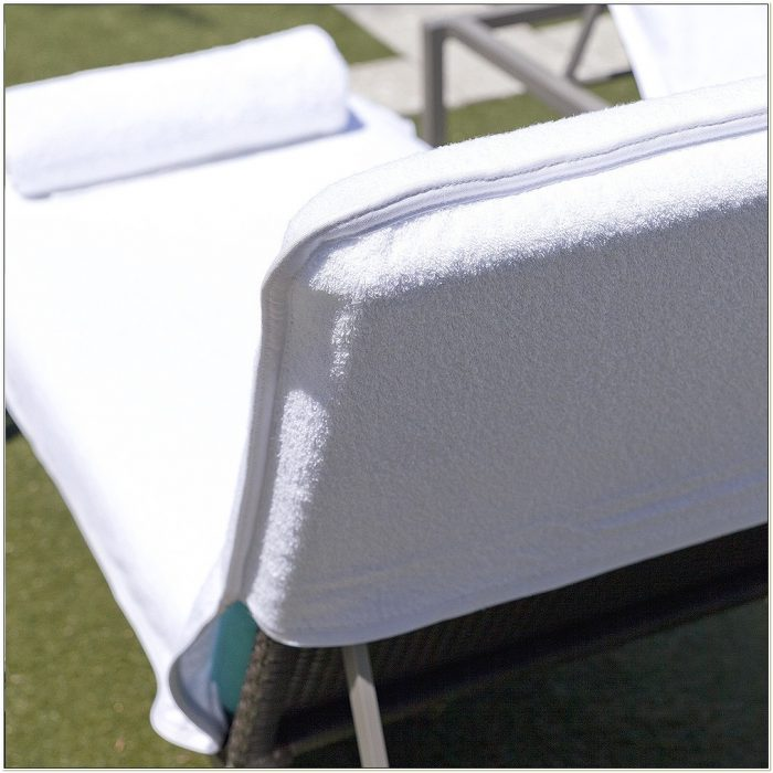 Terry Cloth Lounge Chair Covers With Pillow