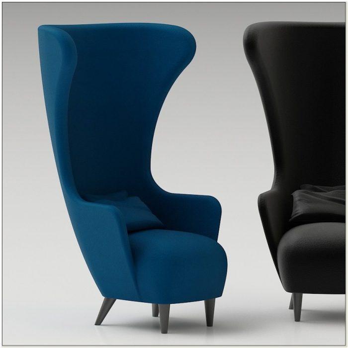 Tom Dixon Wingback Chair 3d