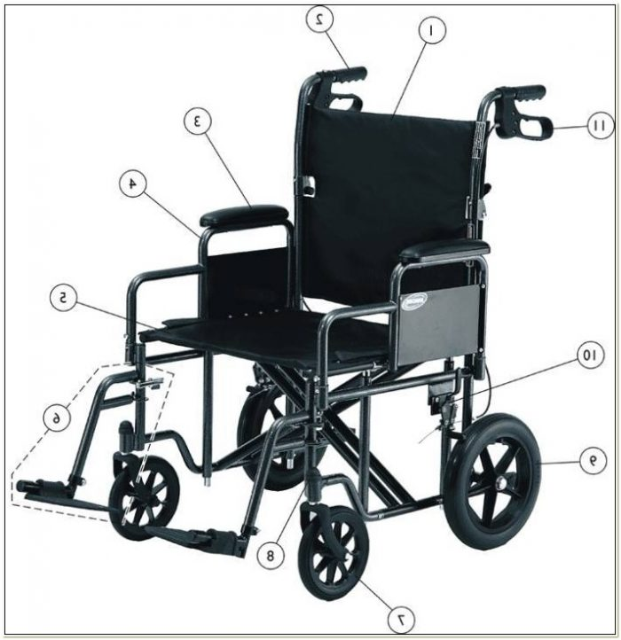 Transport Wheelchair Replacement Wheels