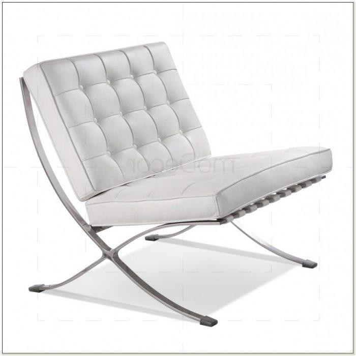 White Barcelona Chair Replica