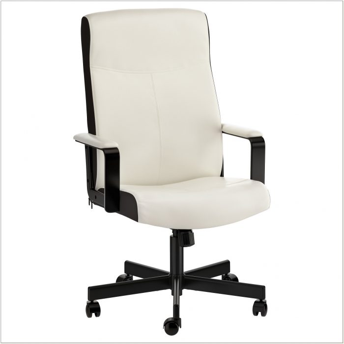 White Leather Office Chair Ikea