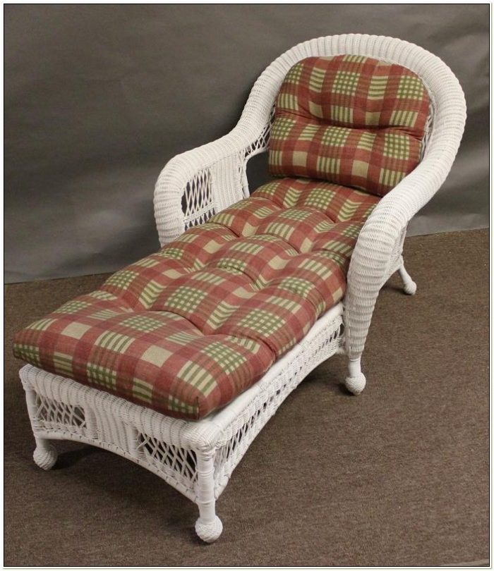 Wicker Chaise Lounge Chair Cushions
