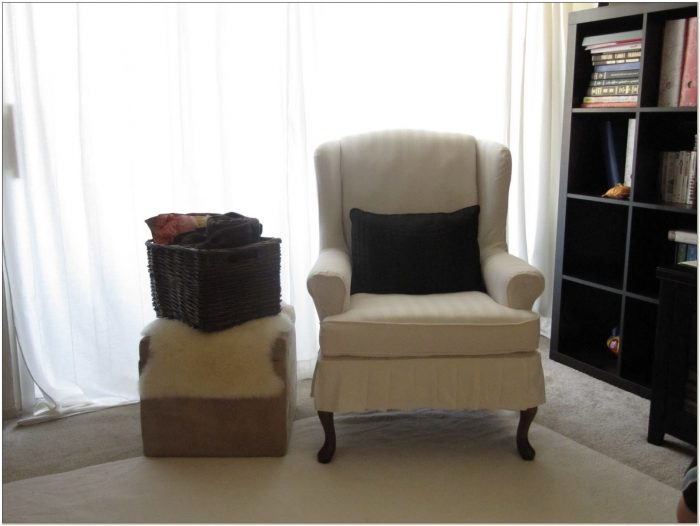 Wing Chair Slipcover 2 Piece