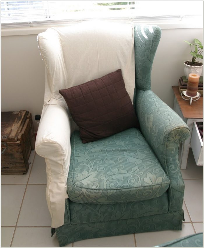 Wingback Chair Slipcover Diy