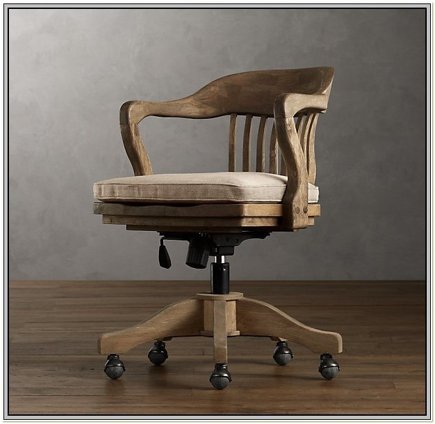 Wood Bankers Office Chair