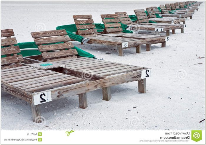 Wooden Beach Lounge Chair Plans