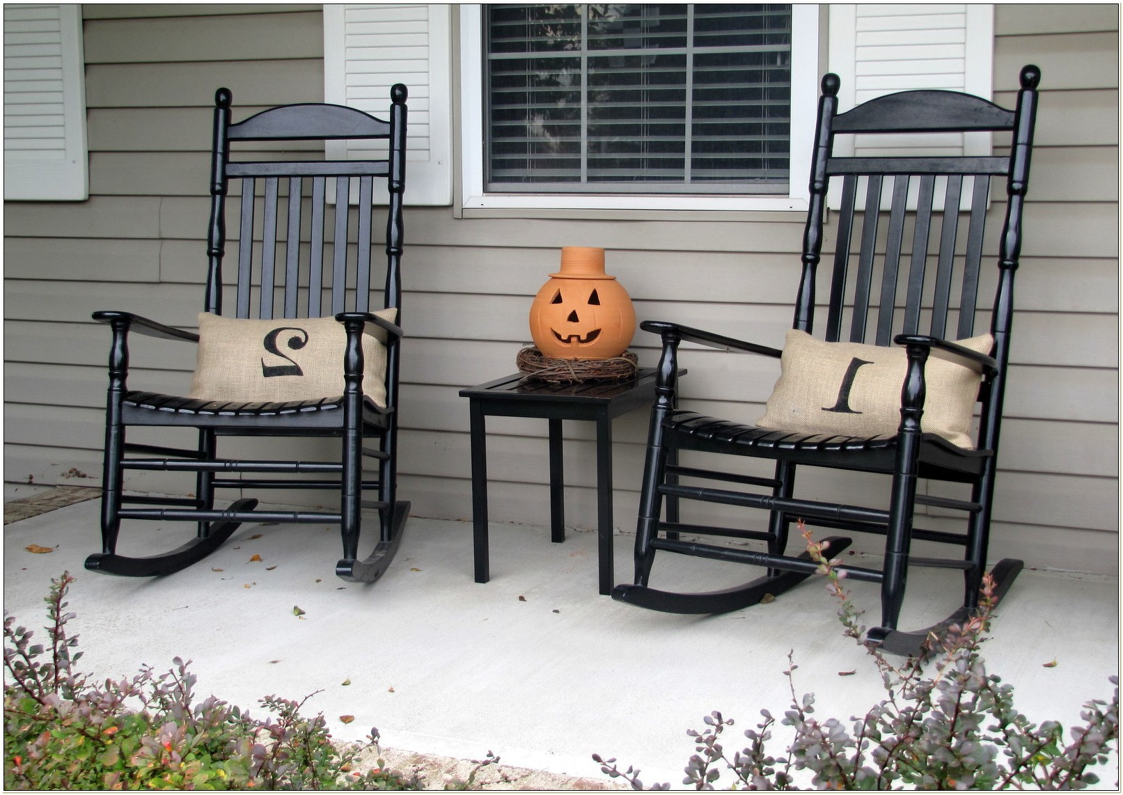 Wooden Front Porch Rocking Chairs