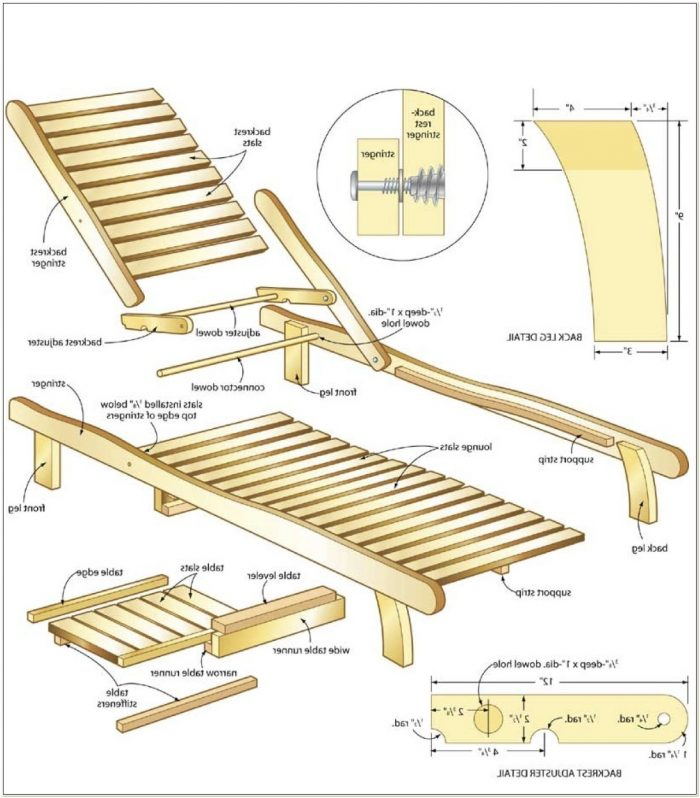 Wooden Lounge Chair Plans