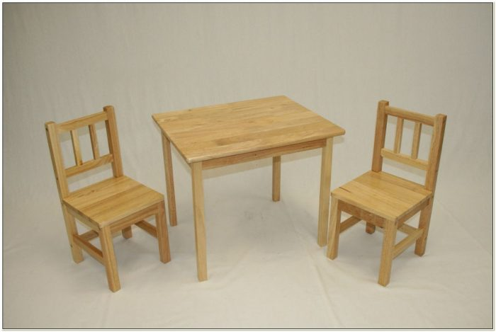 Wooden Toy Table And Chairs