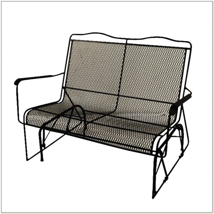 Wrought Iron Glider Patio Furniture