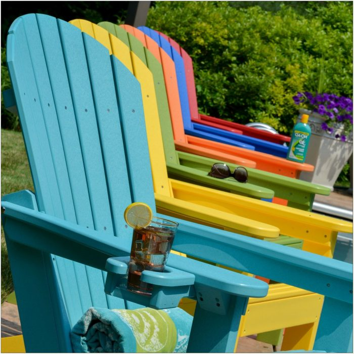 Yellow Resin Adirondack Chairs