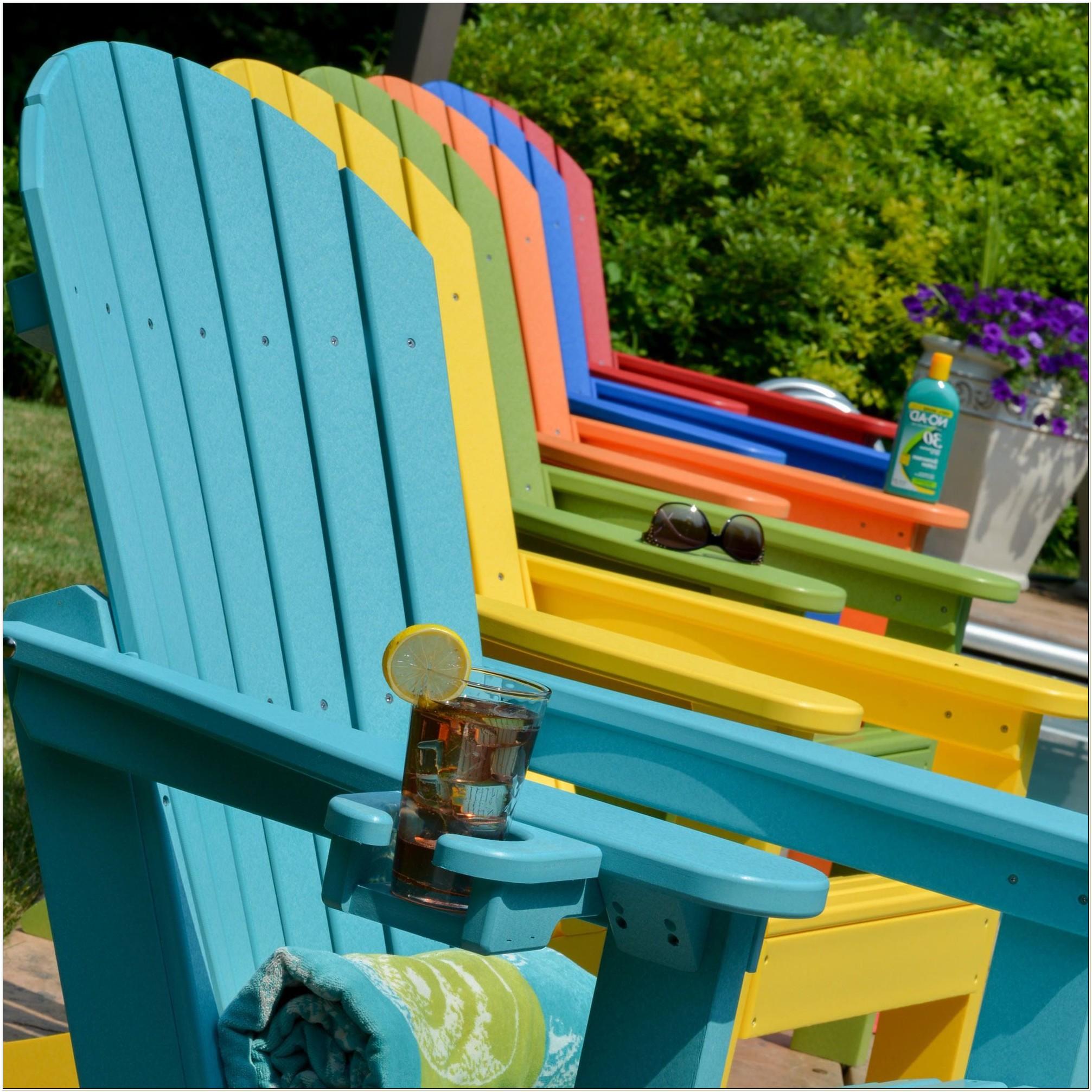 Yellow Resin Adirondack Chairs