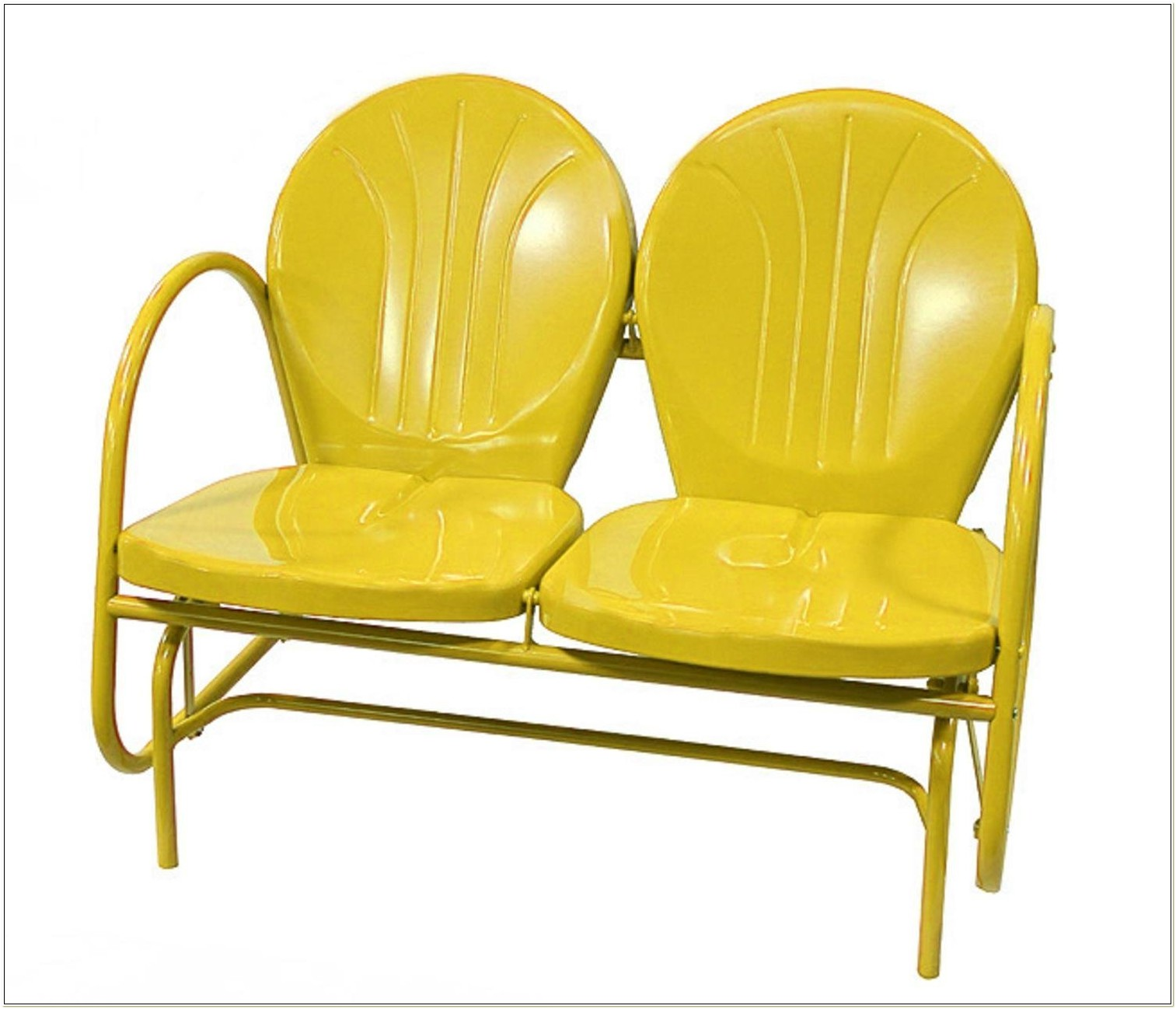 Yellow Retro Metal Tulip Chair