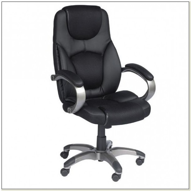 Z Line Designs Leather Executive Chair Black