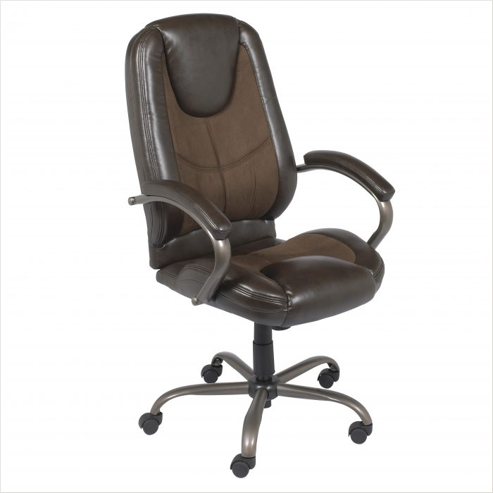 Z Line Designs Leather Executive Chair Brown