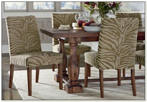 Zebra Dining Chair Slipcover
