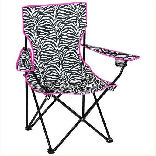 Zebra Print Camping Chair