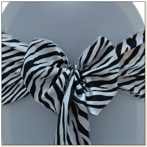 Zebra Print Chair Sashes