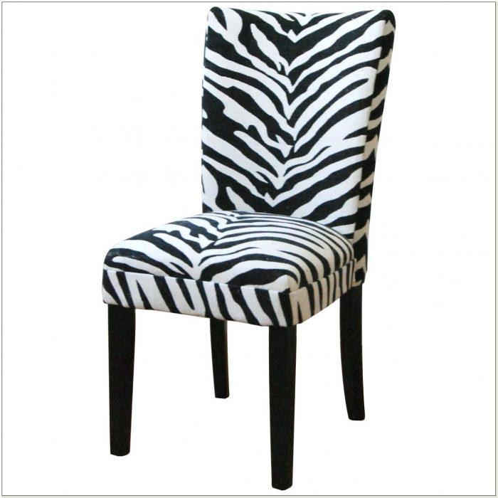 Zebra Print Parsons Chairs