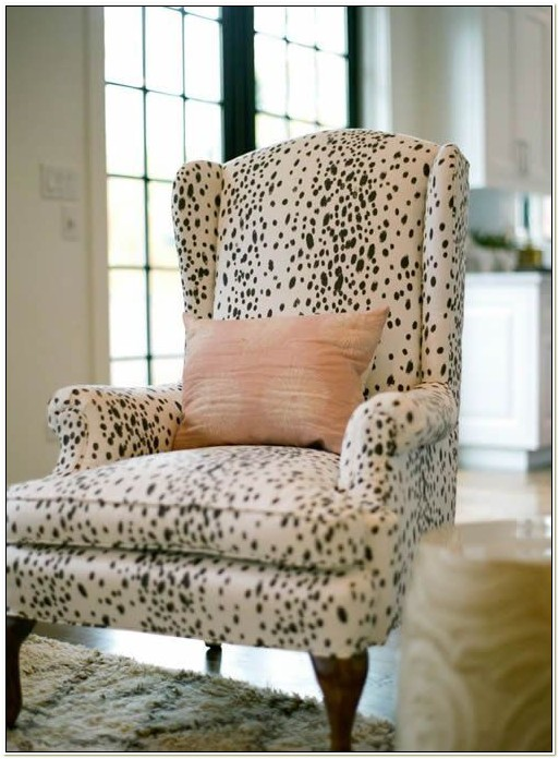 Zebra Print Wing Chair Slipcover