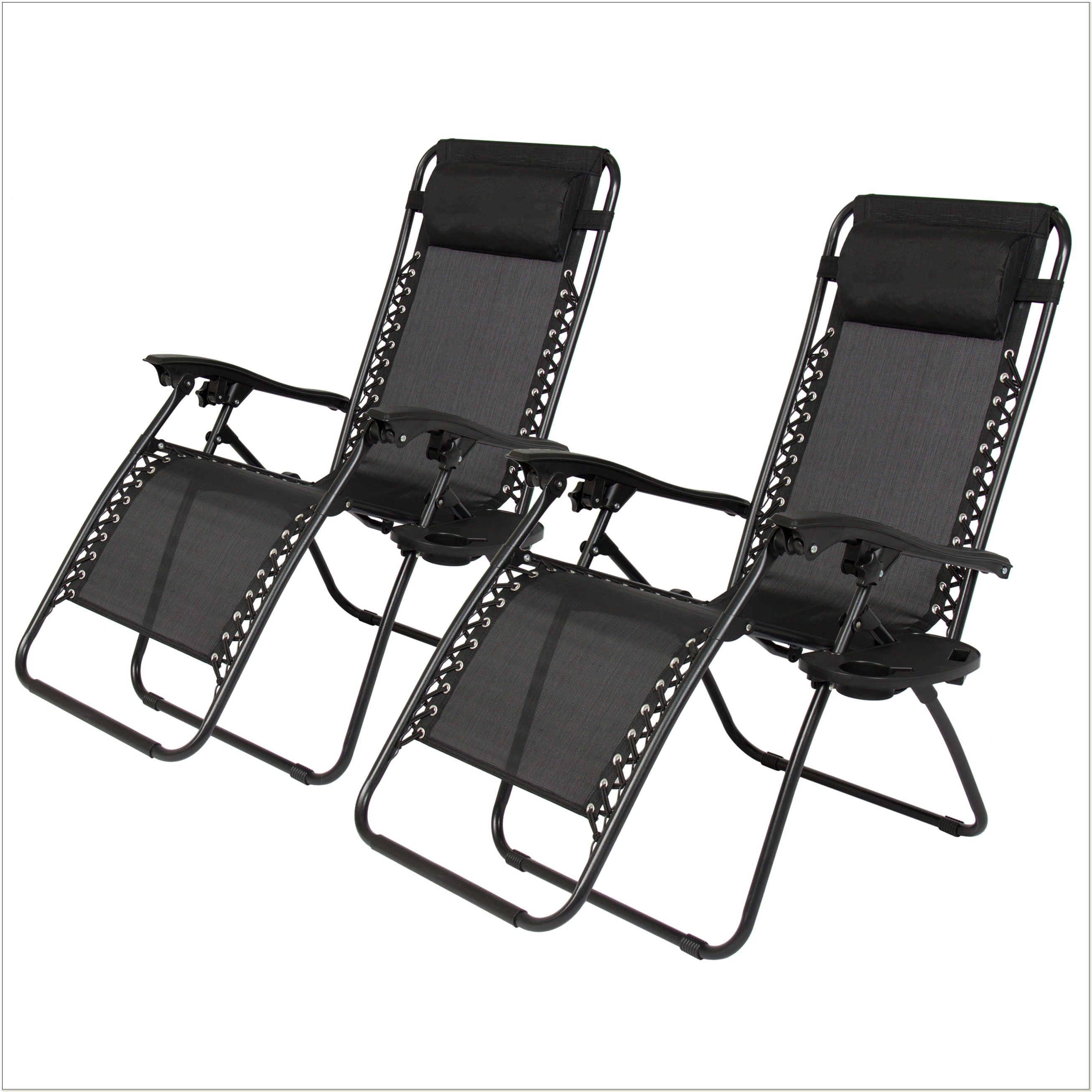 Zero Gravity Black Lounge Patio Chairs