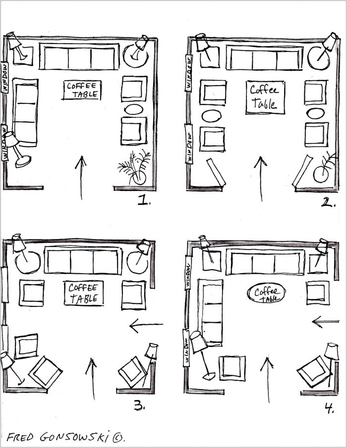 16x16 Living Room Layout
