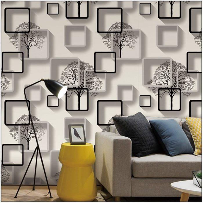 3d Wallpaper For Living Room Modern
