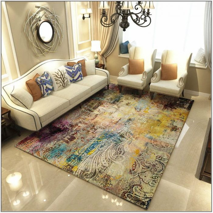 Abstract Rugs For Living Room