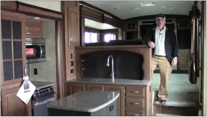Alpine Fifth Wheel Front Living Room
