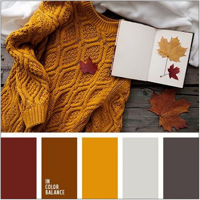 Autumn Color Scheme Living Room