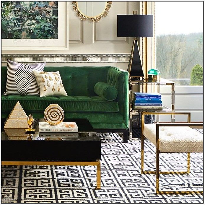 Black And Gold Living Room Rug