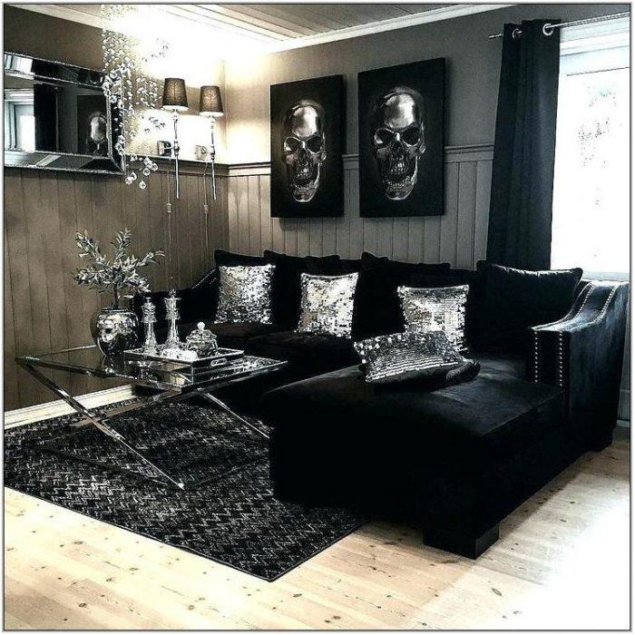 Black And Gray Living Room Set