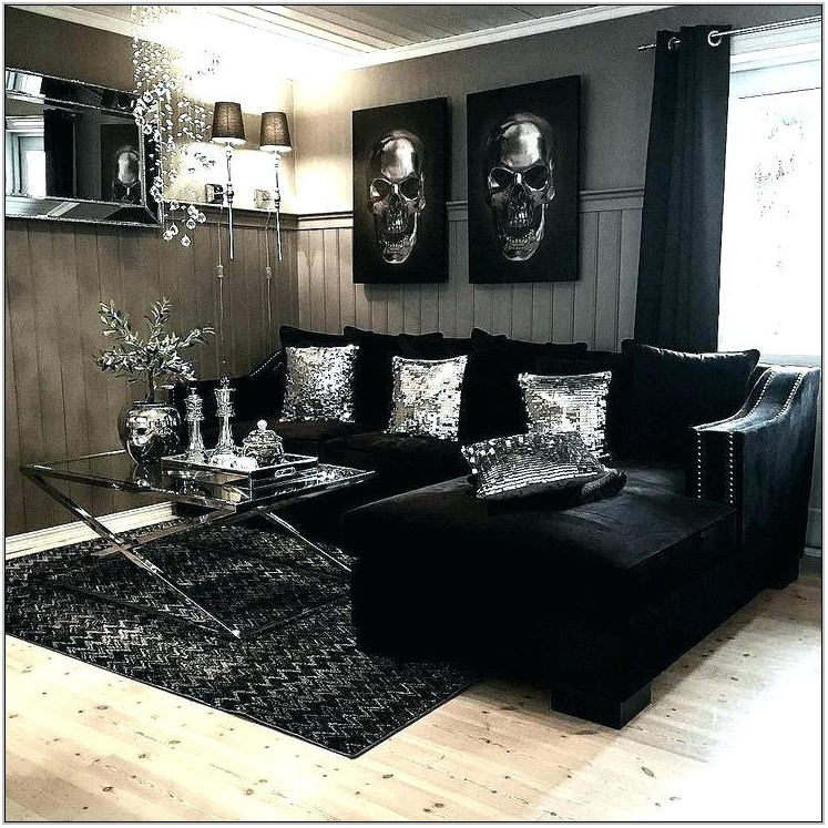 Black And Gray Living Room Set