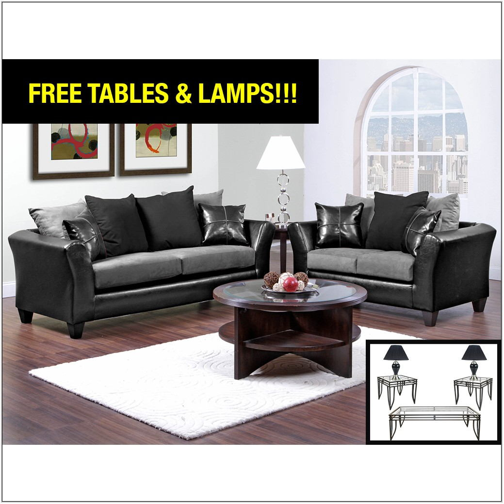 Black And Grey Living Room Set